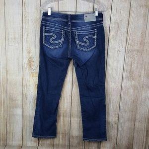 Silver Jeans Suki Capri Womens Size 28 Distressed